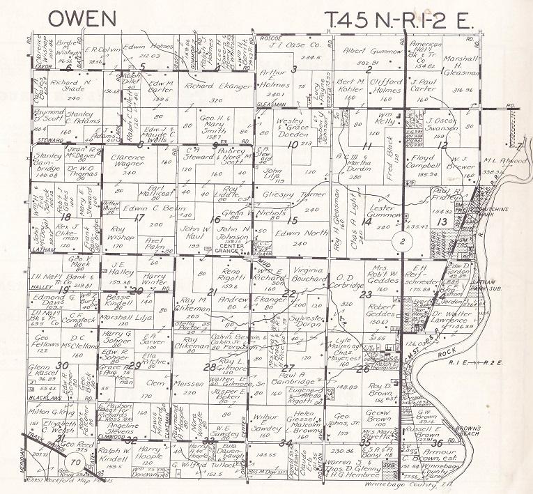 Owen Township map
