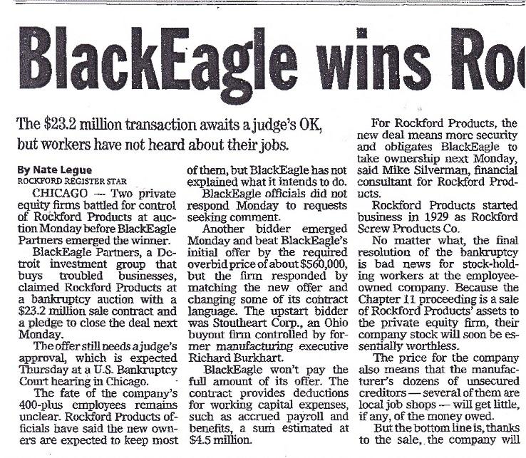 BlackEagle wins