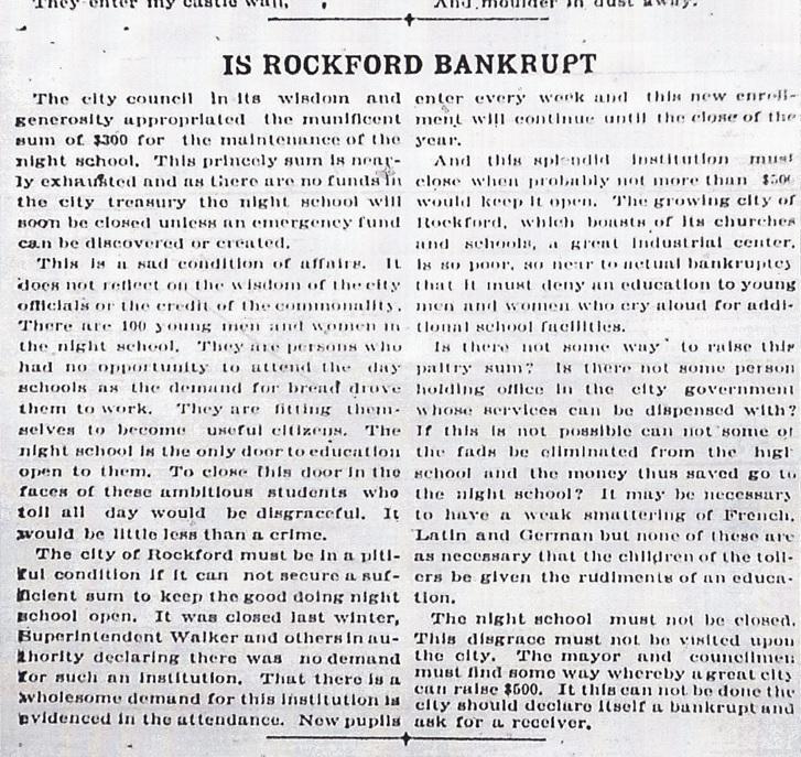 Rockford Bankrupt