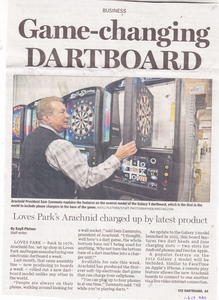 galaxy 3 dartboard cabinet phone charger unit at bottom of dart board rpls local history