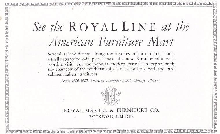 Royal Mantel And Furniture Co., Ad U2013 July, 1926