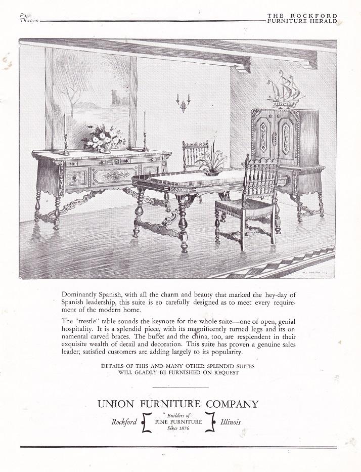 Charming Union Furniture Co. U2013 January 1927