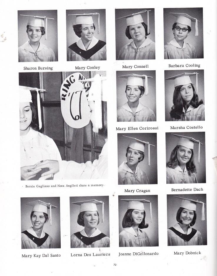 Muldoon Catholic High School 1967 Seniors Bur Dob