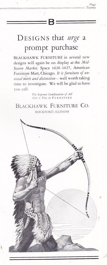 Blackhawk Furniture Co., Ad U2013 April 1927