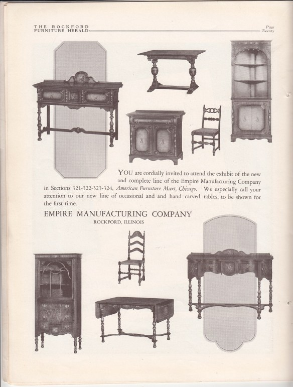 Awesome Empire Manufacturing Co Furniture Ad June 1927 Rpls Download Free Architecture Designs Embacsunscenecom