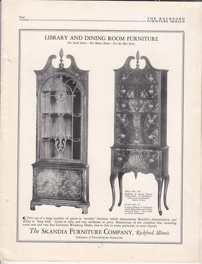 Charmant Skandia Furniture Co., Ad U2013 November 1927