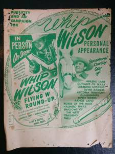 Whip Wilson Movie Poster