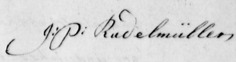 J.P.Radelmuller's signature