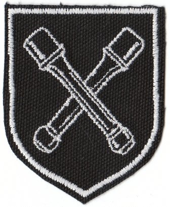 Crossed stick grenades served as the final unit insignia for Dirlewanger's men