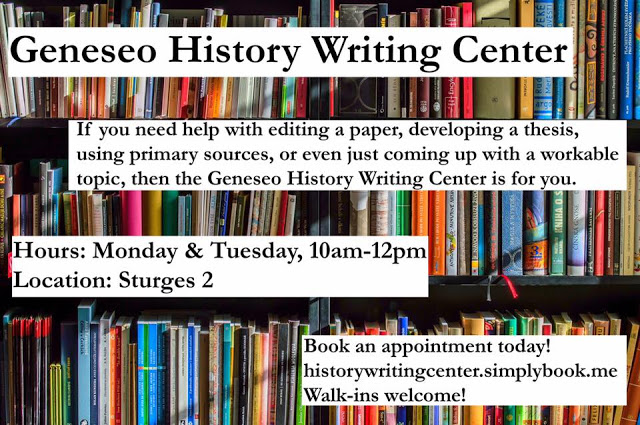 History Department Writing Center Opening This Week