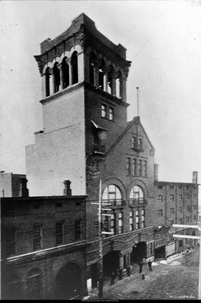 "The ""Old Fire Headquarters"" or Atlanta Fire Station No. 1 Located At 44 Alabama Street In The 1890's-  Atlanta-Journal Constitution Archives Georgia State University Library"