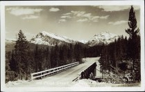 Mt. Edith Cavell Highway, Jasper Park. G. Morris Taylor, Jasper, Alberta, after 1930. peel.library.ualberta.ca/postcards/PC008343.html