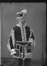 "Mr. H.V. Noel dressed in a ""costume d'étoiles"" or a costume of stars. http://collectionscanada.gc.ca/pam_archives/index.php?fuseaction=genitem.displayItem&lang=eng&rec_nbr=3477325"