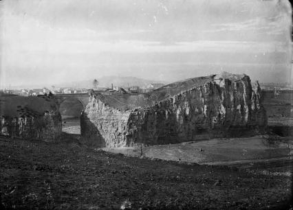 View of the park under construction, circa 1865. http://bibliotheques-specialisees.paris.fr/ark:/73873/pf0001137298