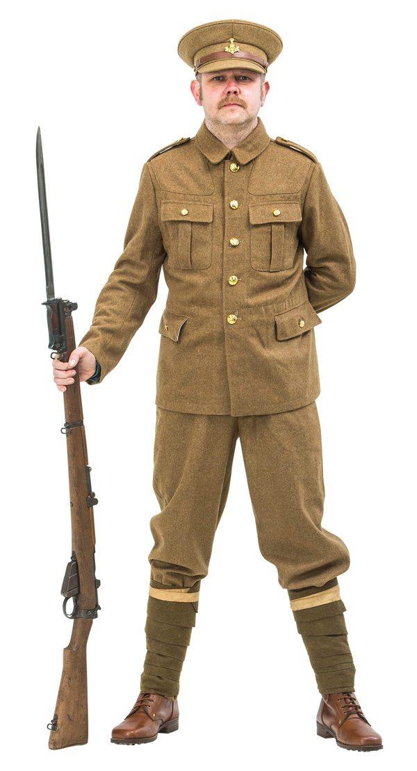 Ww1 British Army Soldiers Uniform 1914 Reproduction Ww1