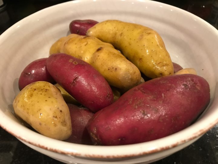 Roasted Fingerling Potatoes with Pearl Onions