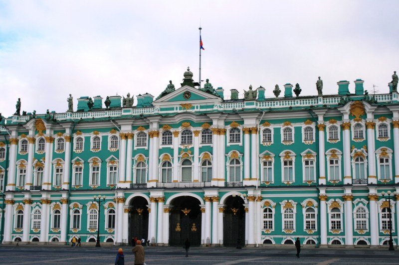The Winter Palace in St Petersburg, Russia. It was stormed during the Russian Revolution.