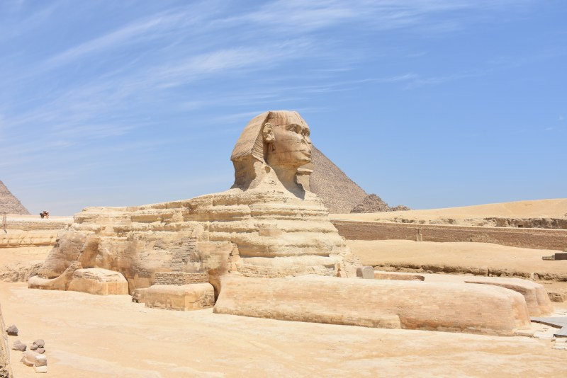 The Great Sphinx of Egypt, which is believed to have been built during the Old Kingdom during the reign of Egyptian Pharaoh Khafre