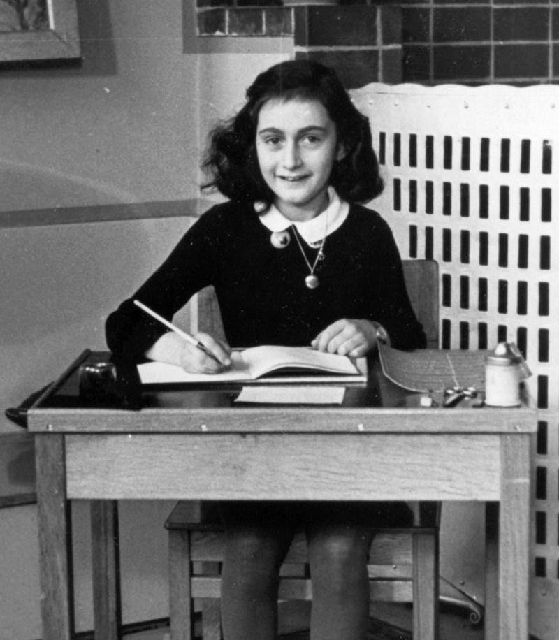 Anne Frank sitting