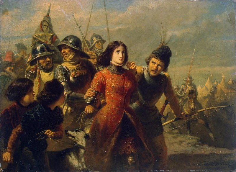 The capture of Joan of Arc during the fifteenth century painting