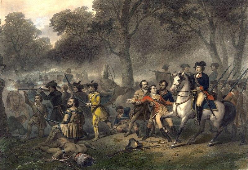 George Washington on Horseback during the Battle of the Monongahela