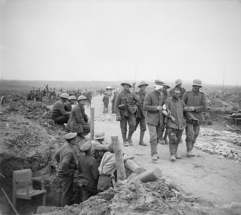 British soldiers and German Prisoners of War