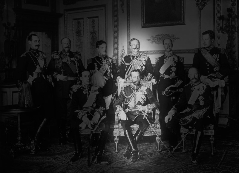 Cousins Kaiser Wilhelm II and King George V photographed together