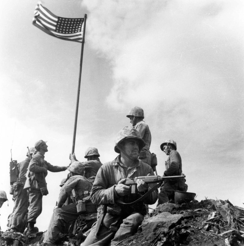 The United States in Iwo Jima during WWII
