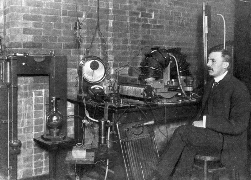 Ernest Rutherford in 1905.
