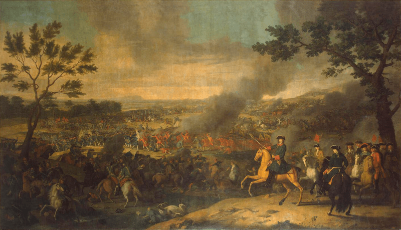 The Battle of Poltava in 1709