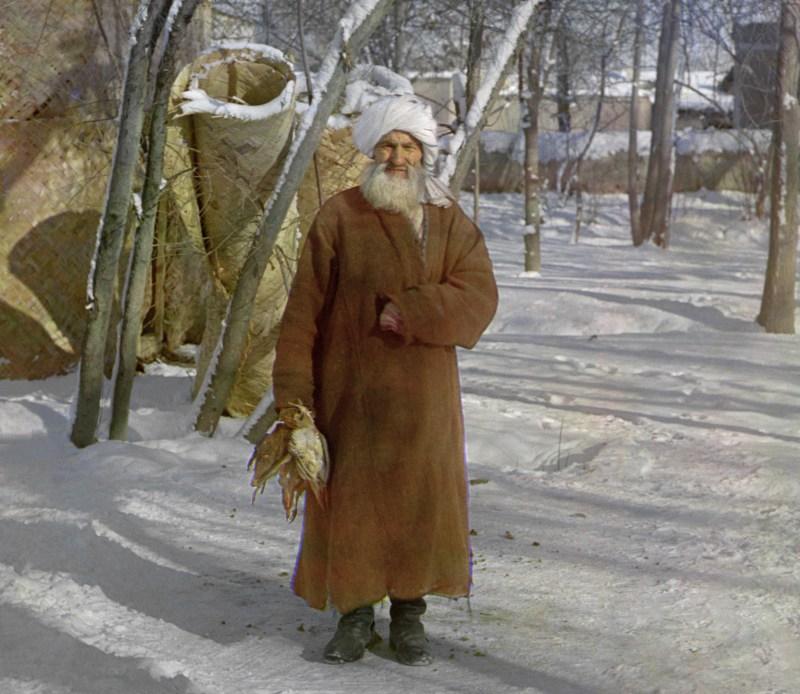 Elderly Tajik man