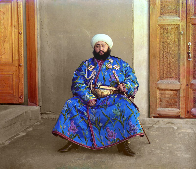Color photo of Said Mir Mohammed Alim Khan in 1911