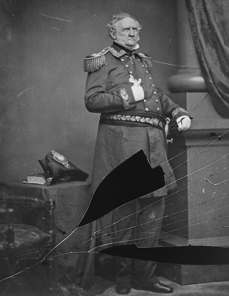 Winfield Scott, the tallest Presidential candidate in US History.