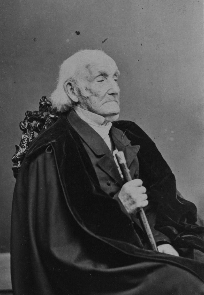102-year-old Revolutionary War veteran, Daniel Waldo, photographed in 1864.