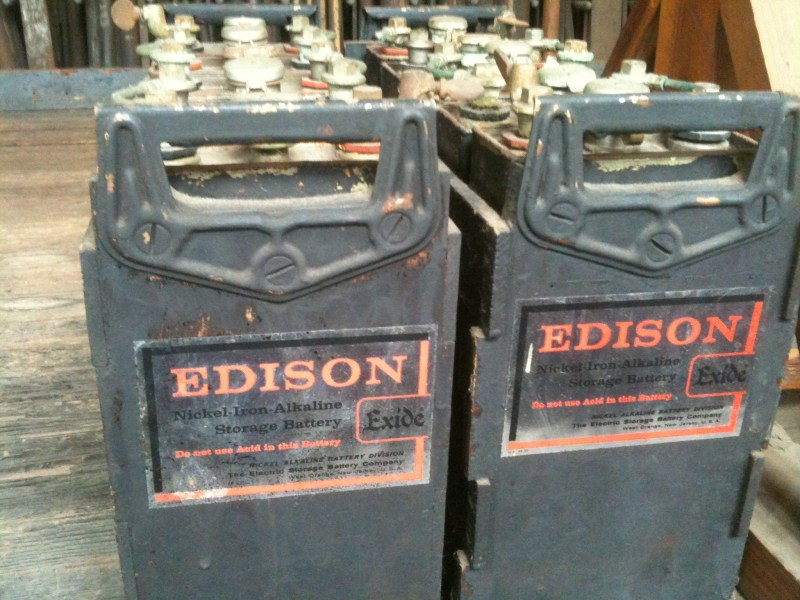 The Nickel-iron batteries first manufactured by Thomas Edison in 1901.