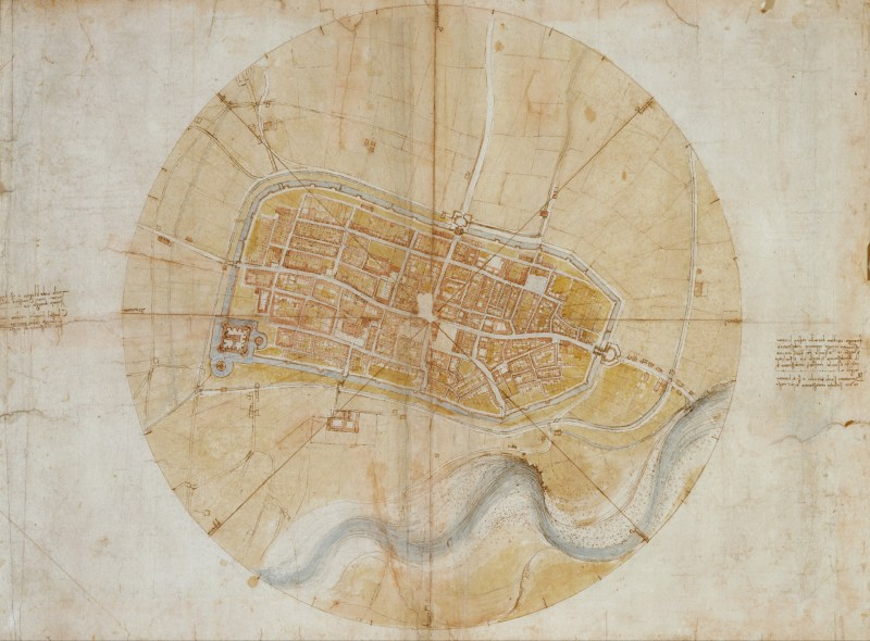 Map of Imola by Leonardo Da Vinci