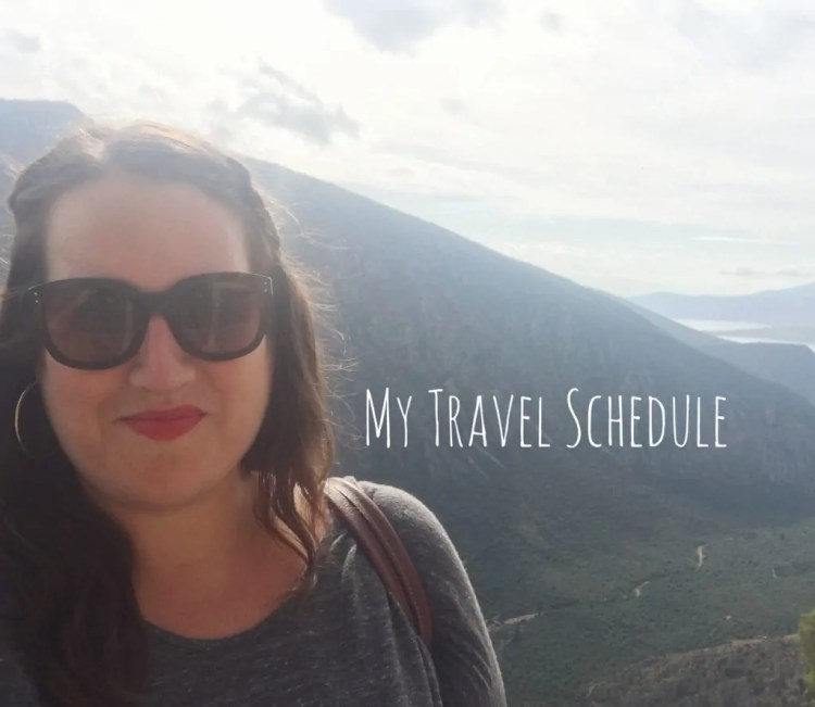 My Travel Schedule
