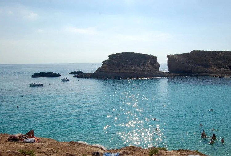 Malta - Blue Lagoon - Sunbather