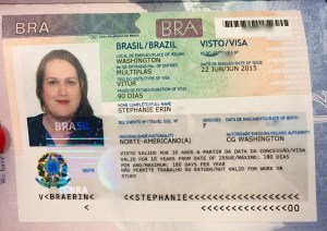 When my Brazil visa arrived, I did a happy dance.