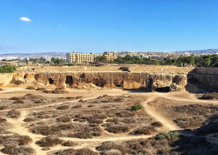 One of the impressive views at the Tomb of the Kings