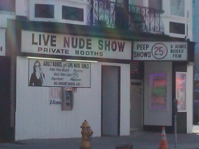 A Strip Show in Atlantic City...for illustration purposes only. I did not go in that club. It looked like my nightmares and it was 11am.