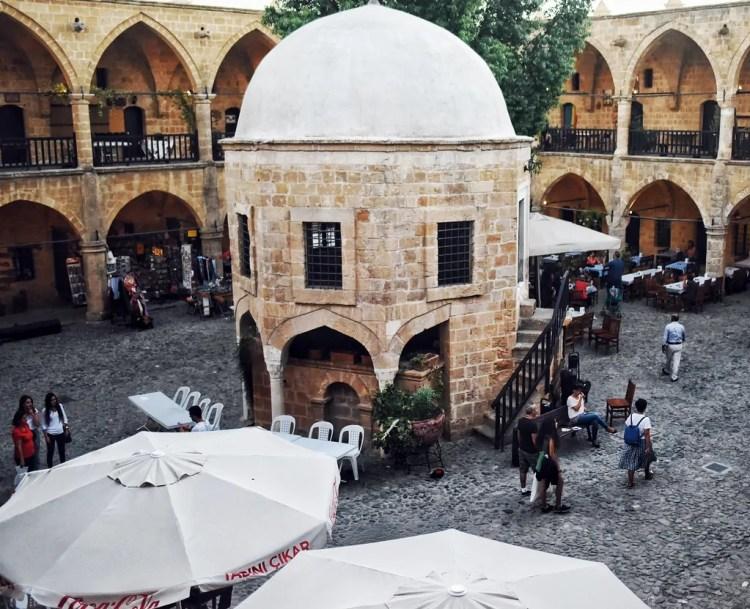 The inside of the Büyük Han
