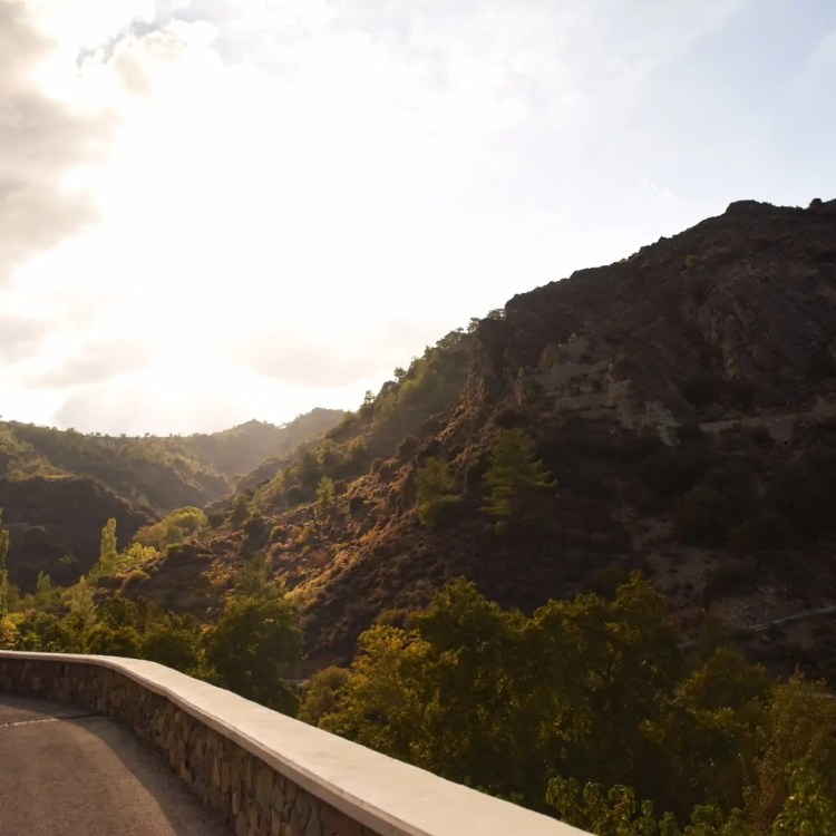Driving through the Troodos Mountains