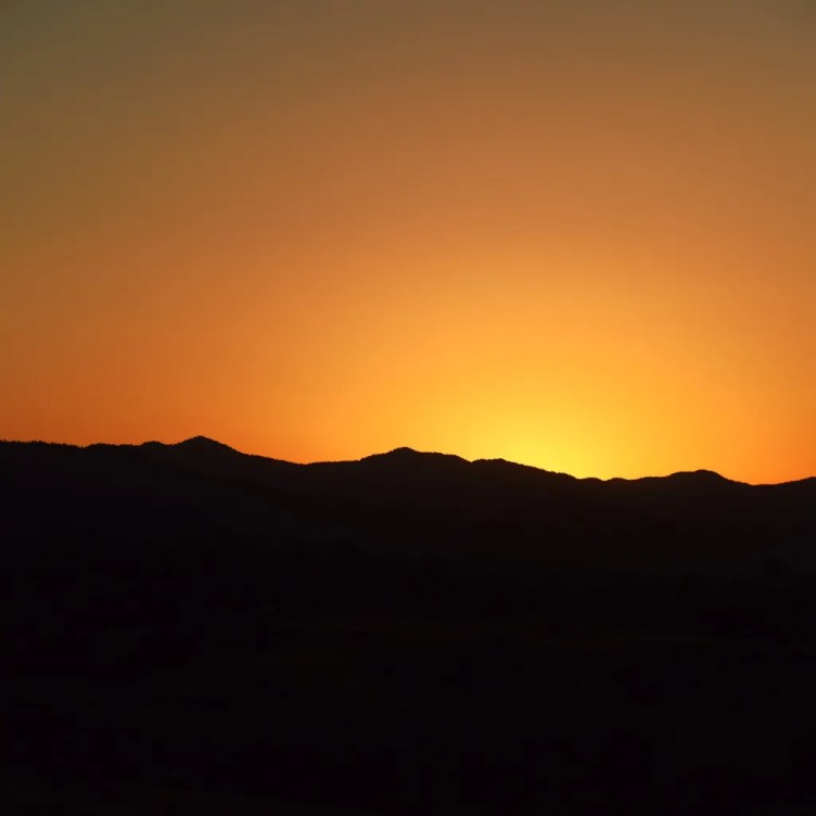 Driving back to Nicosia at Sunset