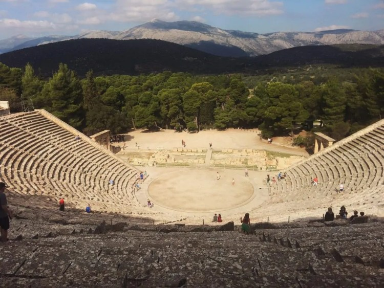 View from the top of the Great Theater at Epidaurus