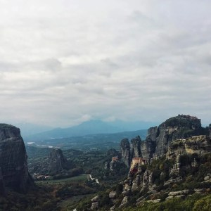View of four of the monasteries in Meteora