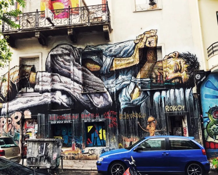 Took myself on a street art walk around this city and made it to Exarchia, an anarchist neighborhood covered in graffiti and murals.