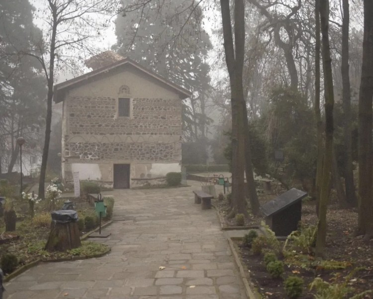 Walking up to Boyana Church
