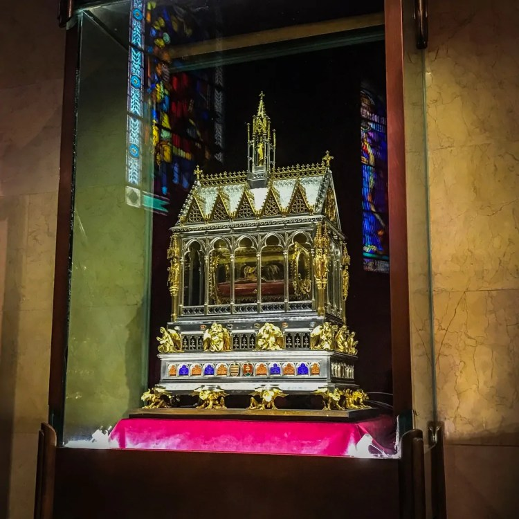 The relic of St. Stephen at St. Stephen's Basilica