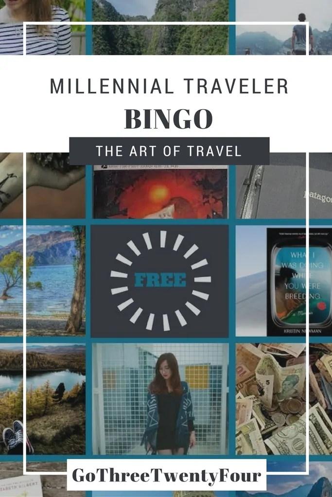 Millennial Traveler Bingo